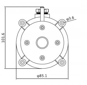 DPS-500 чертеж, PS-500 чертеж, размеры датчика перепада давления