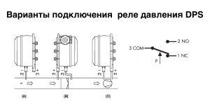 монтаж датчика перепада давления DPS, подключение PS-500, монтаж дифманометра