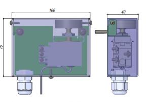 реле температуры для калорифера, капиллярный термостат KP61-6, термостат защиты от заморозки